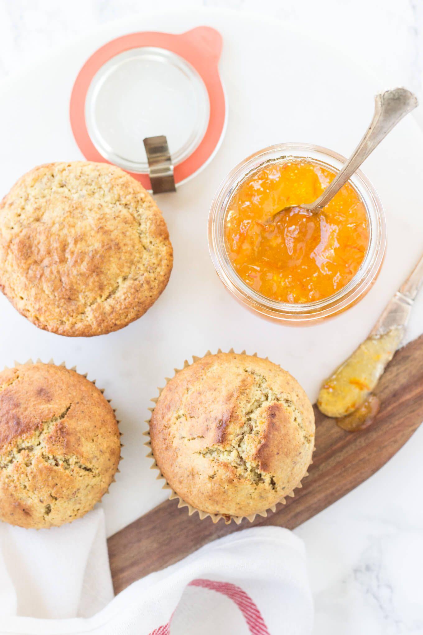 These Paleo Orange Marmalade Muffins are bursting with bright orange flavors!