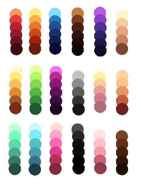 Palettes By Kakuzu Chan12 On Deviantart Color Palette Challenge Palette Art Color Palette