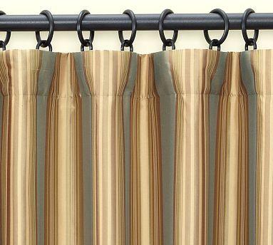 Sadie Stripe Silk Drape Pottery Barn Pottery Barn Drapes Home Furniture