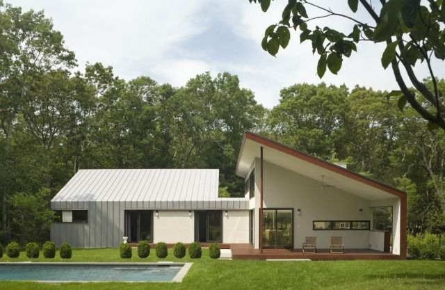 Moderne Bungalow Architektur Mit Pultdach Eisner Design Llc