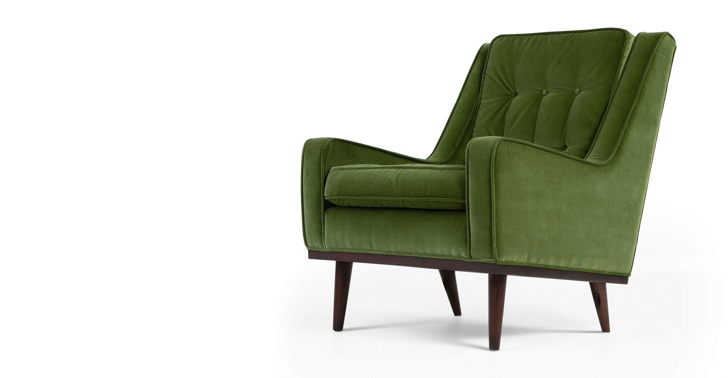 Scott Sessel Samt In Grasgrün Madecom Sessel Pinterest