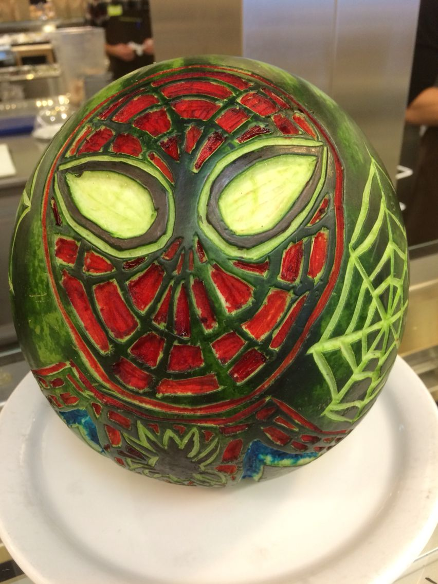 Spiderman food art pinterest spiderman food art and fruit