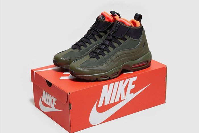 The Nike Air Max 95 Sneakerboot Rocks Olive Green This Fall