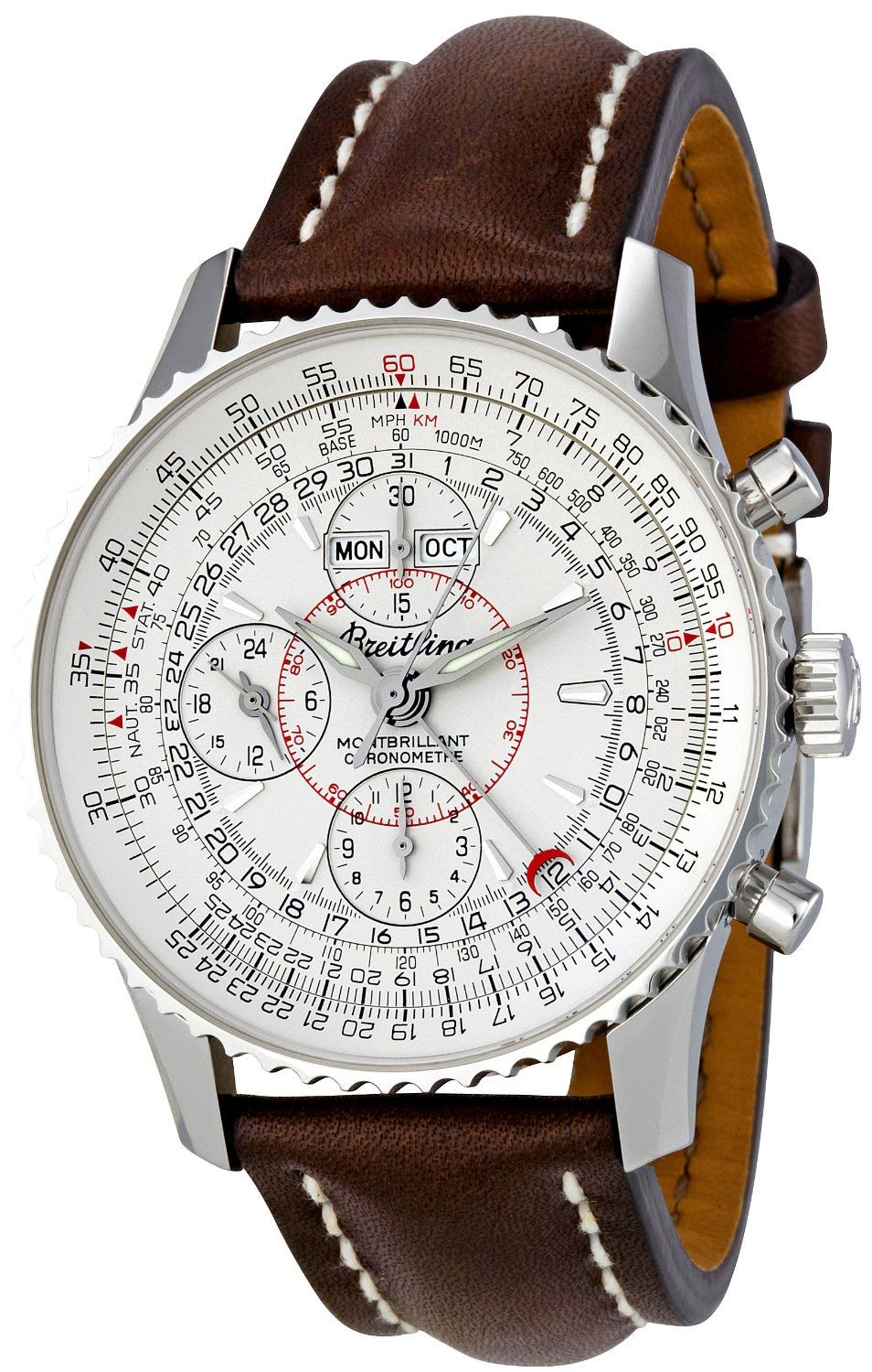 Breitling Silver Dial Montbrilliant Datora.  8a5825b6bc0