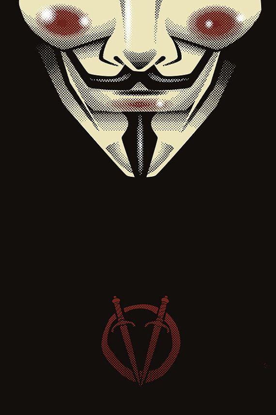 V For Vendetta Alternate Black 16 X 24 Signed By Trythemonkey 40 00 V For Vendetta Vendetta Movie Poster Art