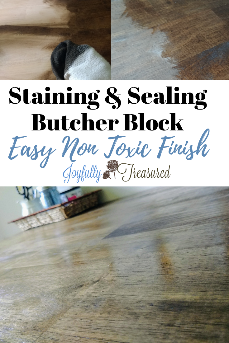 Finishing Butcher Block With Wood Bowl Finish A Dark Walnut Stain For The Craft Table Diy Butcher Block Countertops Wood Bowls Butcher Block Countertops Island