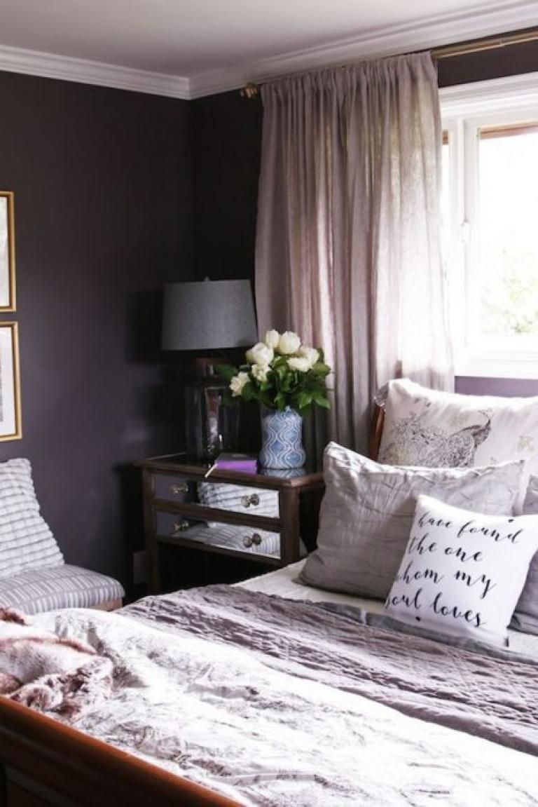 Gorgeous Purple Bedroom Ideas Purple Master Bedroom Purple Bedroom Design Bedroom Color Schemes