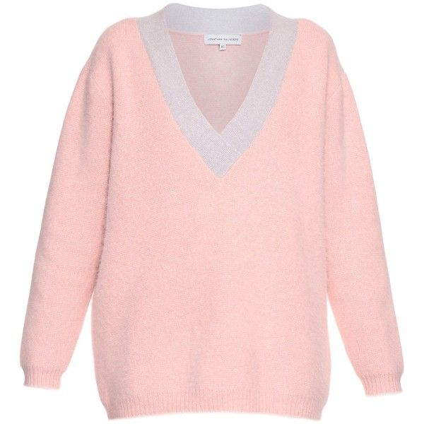 Jonathan Saunders Edith V-neck knit sweater (24.105 RUB) ❤ liked ...