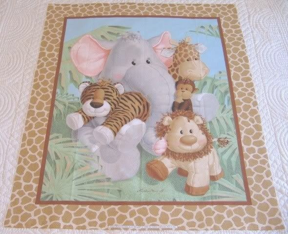 baby+panels+for+quilting | ... Brand New ~ Gorgeous ~ Baby Jungle ... : fabric panels for quilting baby - Adamdwight.com
