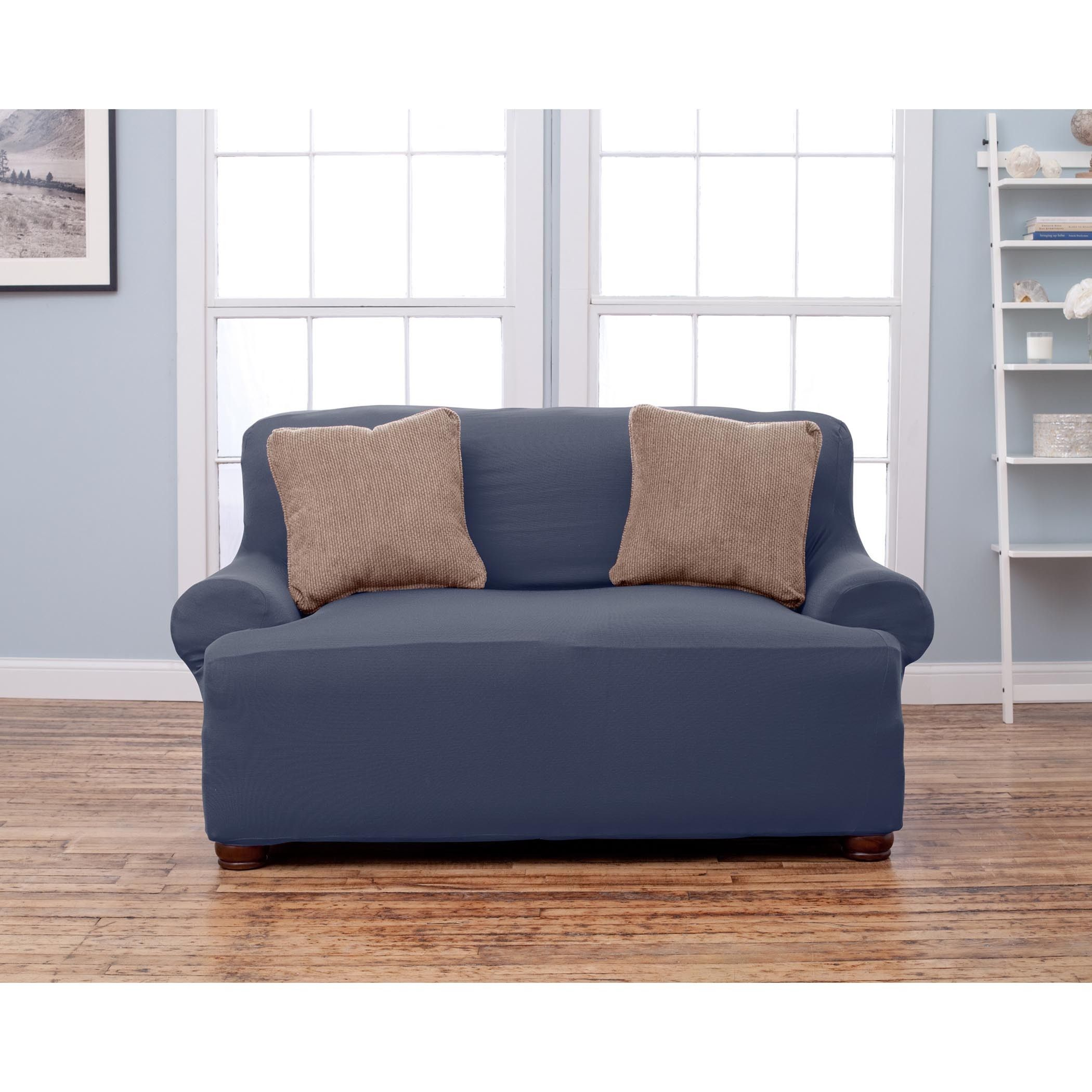 Home Fashion s Lucia Collection Corduroy Form Fit Love Seat Protector Slip Cover