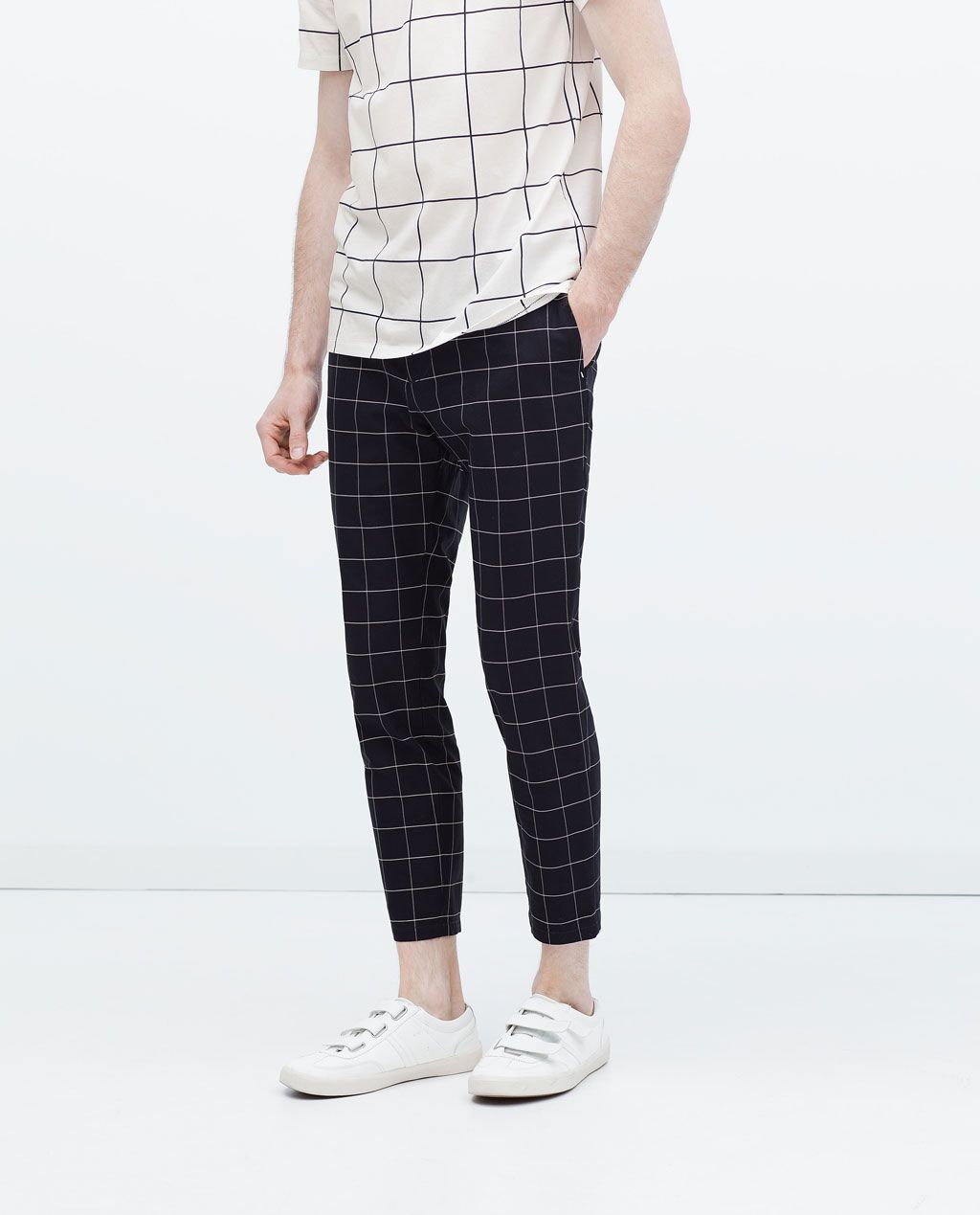 CHECKED TROUSERS-View all-Trousers-MAN | ZARA United ...
