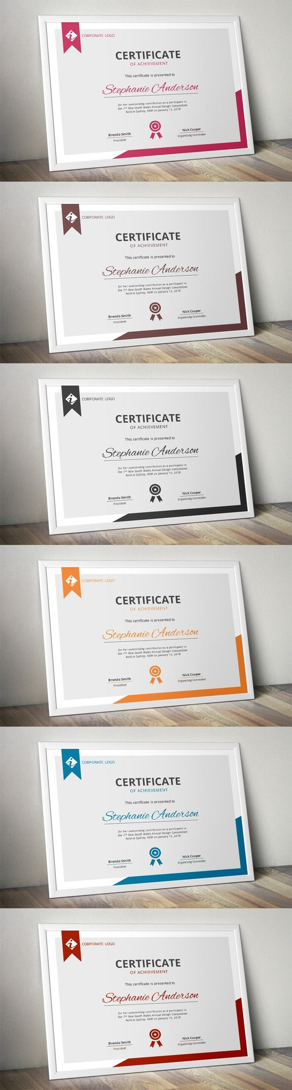 Modern MS Word certificate template | certificate design | Pinterest ...