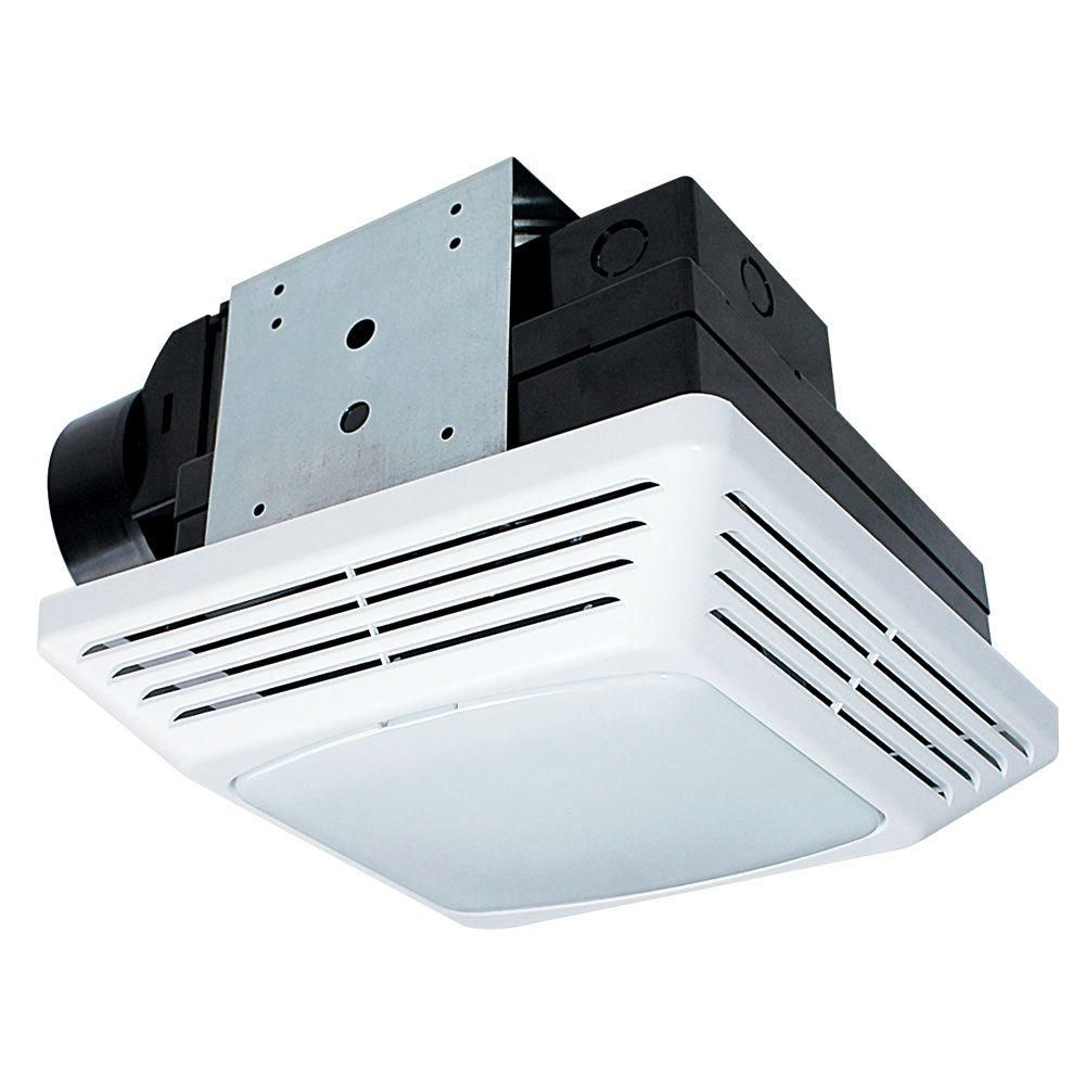 Air King High Performance 70 Cfm Ceiling Exhaust Bath Fan With Light Energy Star Bfqf70 The Home Depot