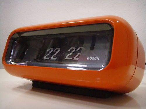 Rare Vintage Bosch Alarm Flip Clock German Mid Century Eames Space
