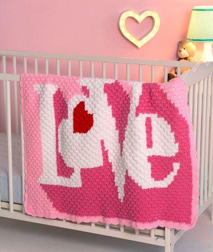 Heart Throb Blanket Free Crochet Pattern In Red Heart Yarns From