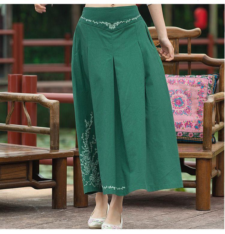 Encontrar Más Faldas Información acerca de Vintage 70 s diseño largo y  oscuro verde azul rojo a line falda de midi mujeres Mexico estilo étnico  largo faldas ... 3d4f5c348ea6