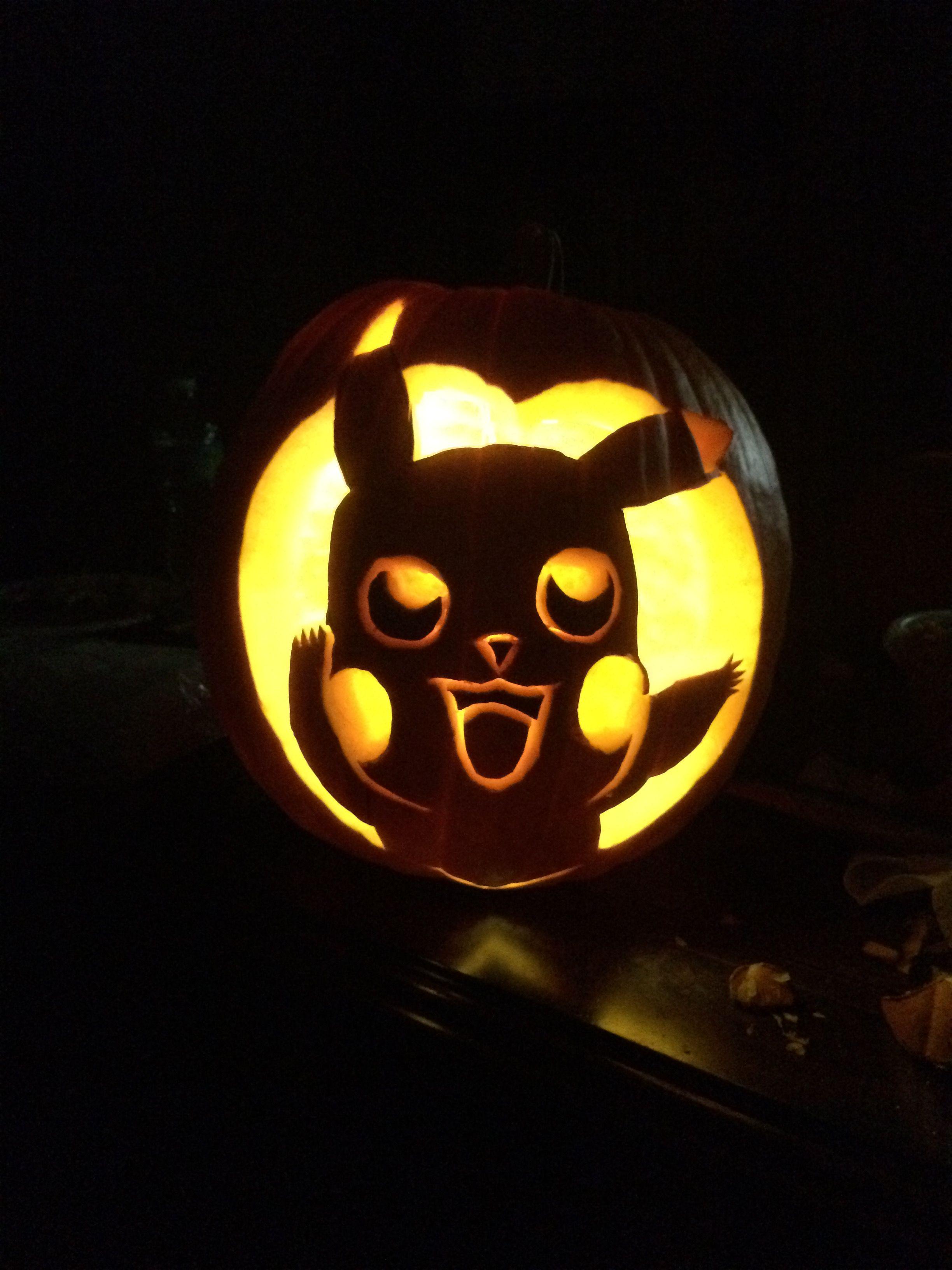 Pikachu Pumpkin My Fianc Did Freehanded