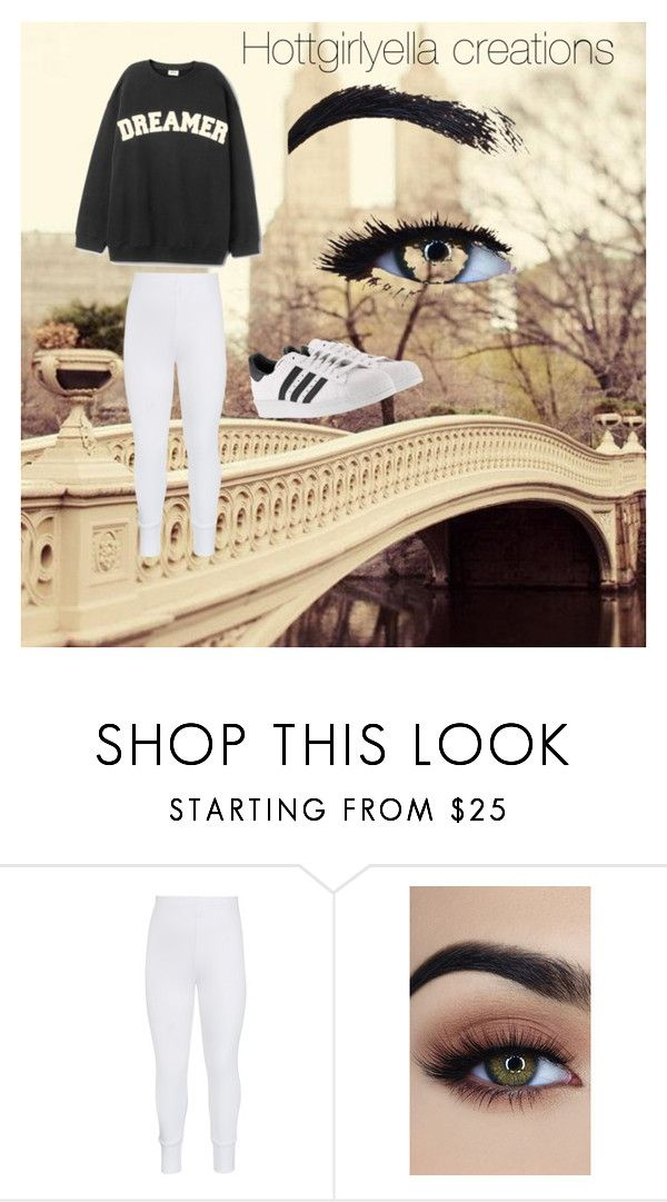 """""""Dreams don't die!"""" by hottgirlyella ❤ liked on Polyvore featuring John Lewis and adidas"""