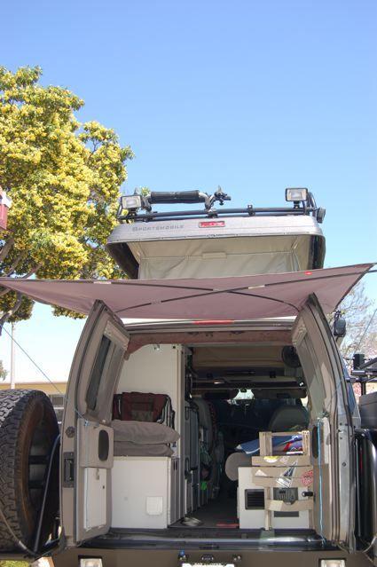 Diy Rear Awning Van Life Camper Life Camper