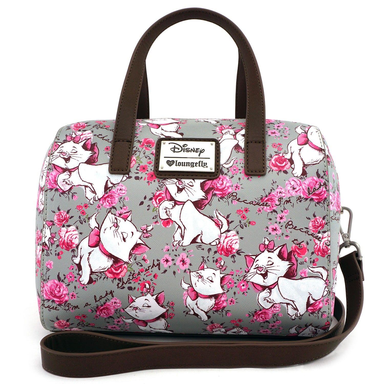 3dabcfac40d6 Loungefly x Disney Marie Floral Grey Duffle Bag - Disney - Brands ...