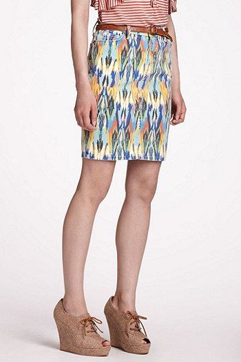 Current/Elliott Fletching Denim Skirt