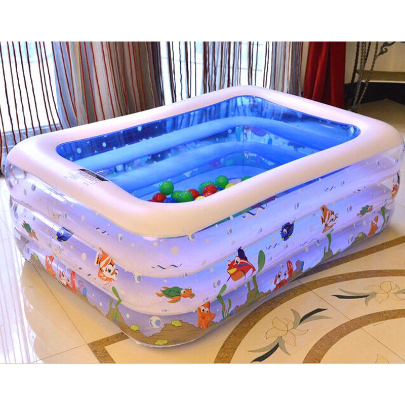 高品質の子供の家庭用プール大サイズインフレータブル平方スイミングプール保温子供用プール