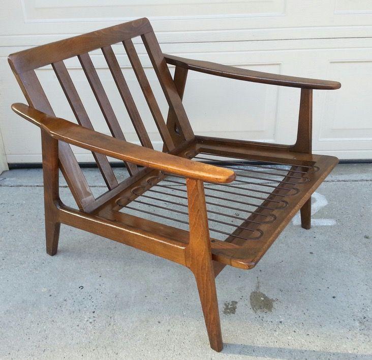 Mid Century Modern Danish Teak Wood Lounge Chair In 2019 Joel