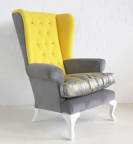 Victorian High Back Wing Chair Fully Upholstered