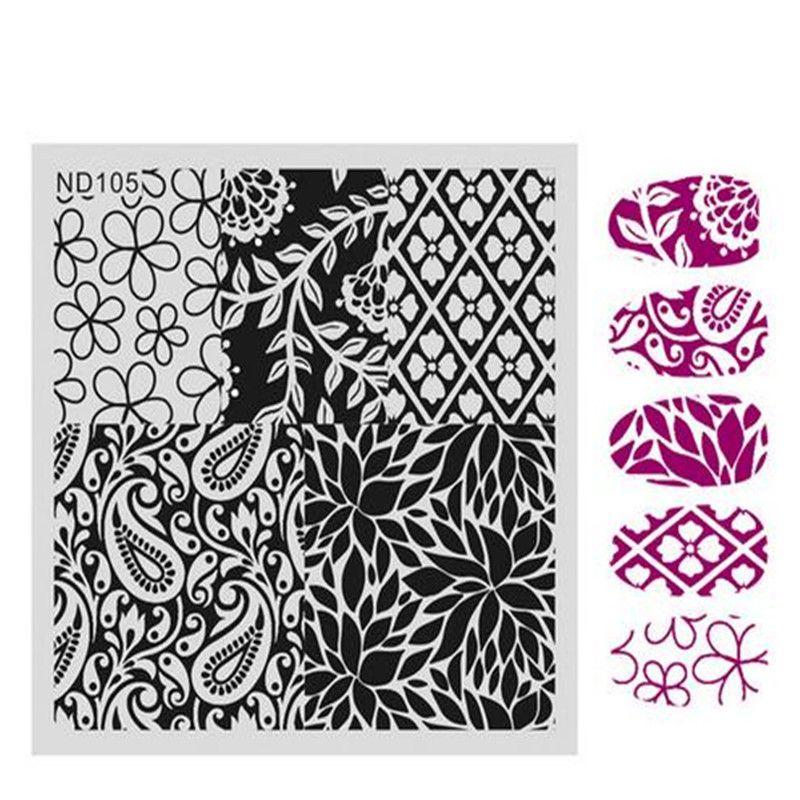 NICOLE DIARIO Nail Art Stamping Piatti della fotografia Fiori Modelli In Acciaio Inox di Alta Qualità DIY Che Timbra Template 26246