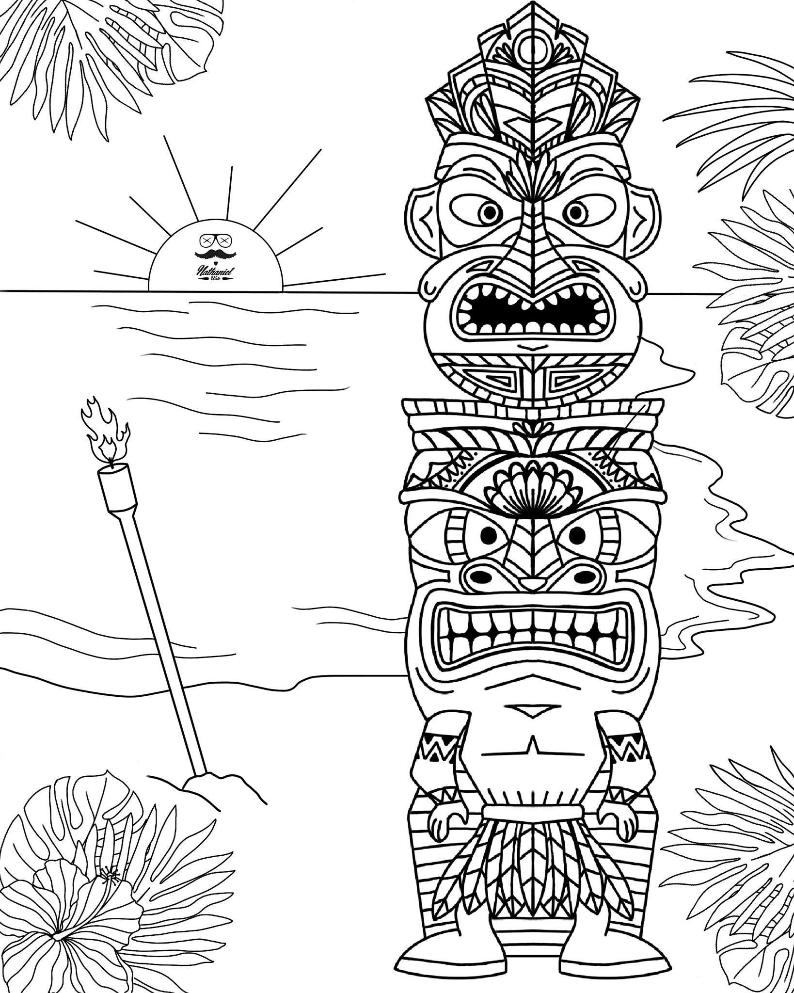Totem Polele Larson Board Pages To Color