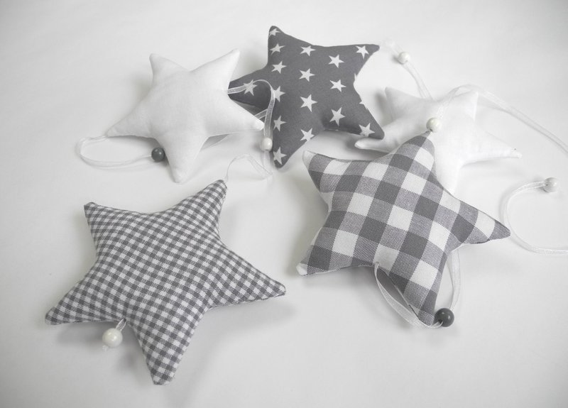 Girlande sterne grau wei von neuling auf hogar pinterest baby girlanden und - Girlande babyzimmer ...