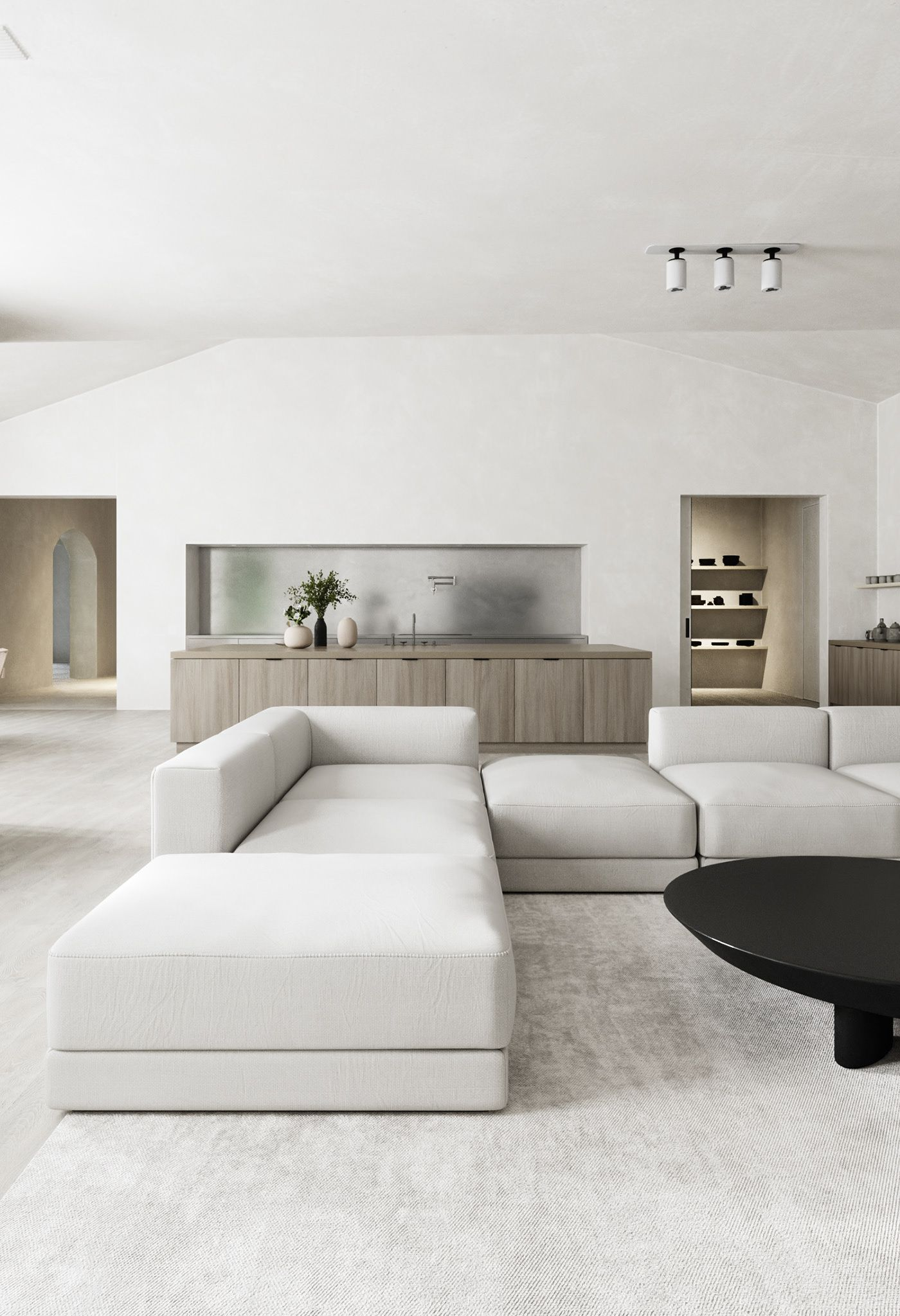 Celebrity Style Celebrities Kim Kardashian Kim Kardashian Kanye West Minimalist Home Minimalist Living Room Minimalism Interior Celebrity living rooms decor