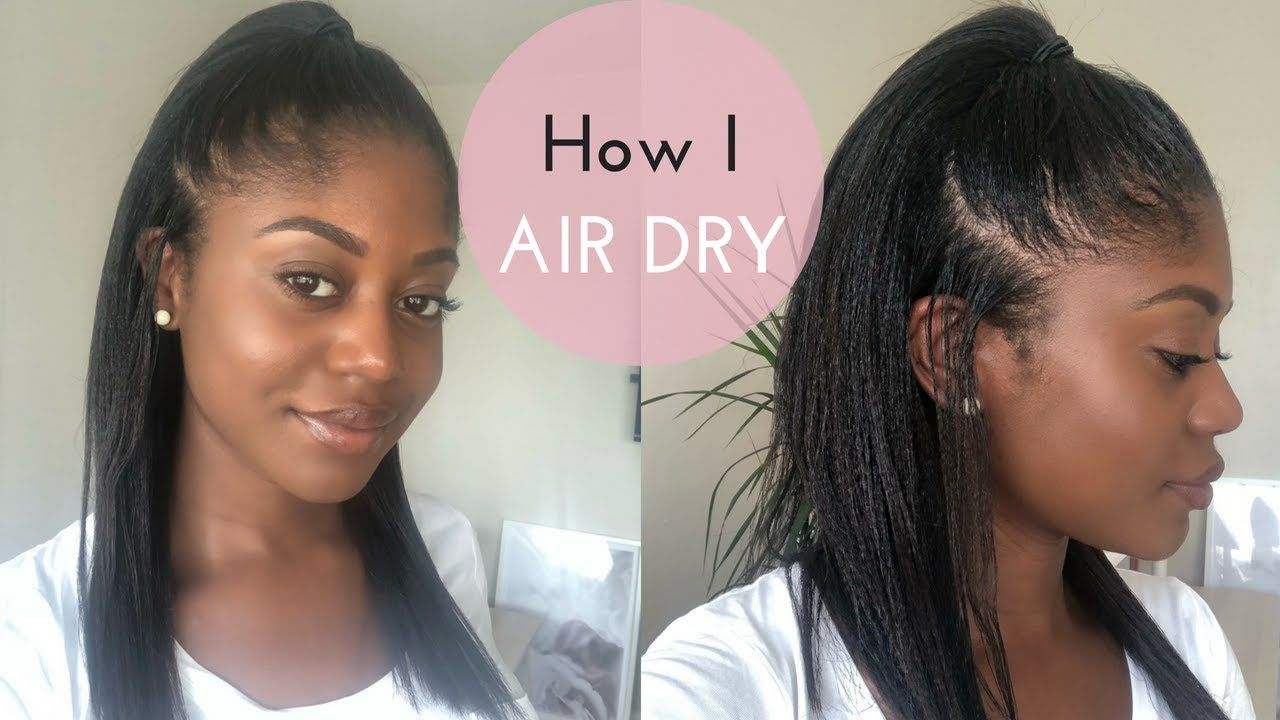 Air Drying Relaxed Hair #africanamericanhair