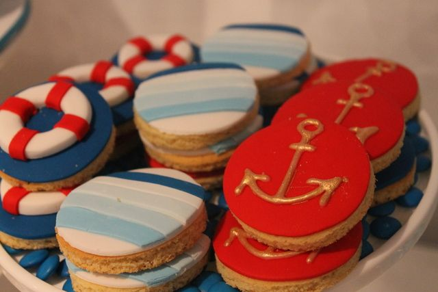 Awesome nautical cookies by Blissfully Sweet via Catch My Party