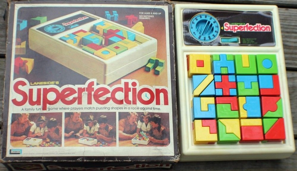LAKESIDE 1975 Superfection Game Vintage Games Family