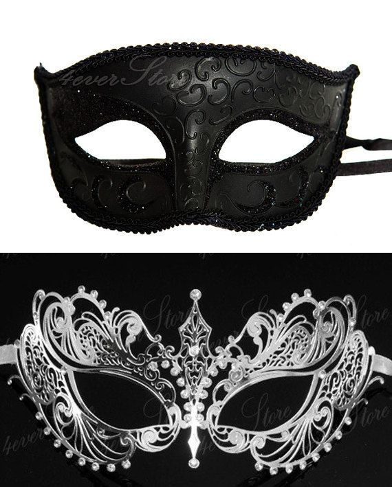 New Extravagant Masquerade Couples Mask Set - His & Hers ...