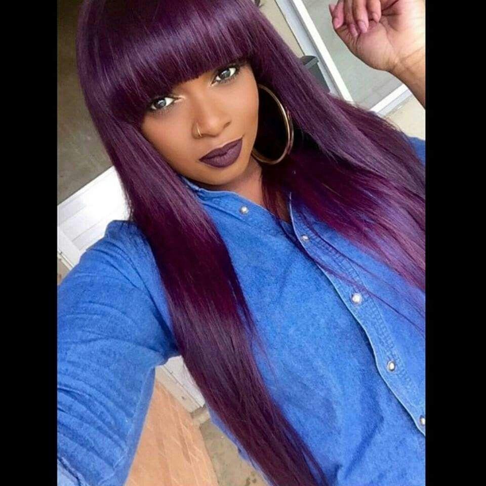 purple chinese bang flawless