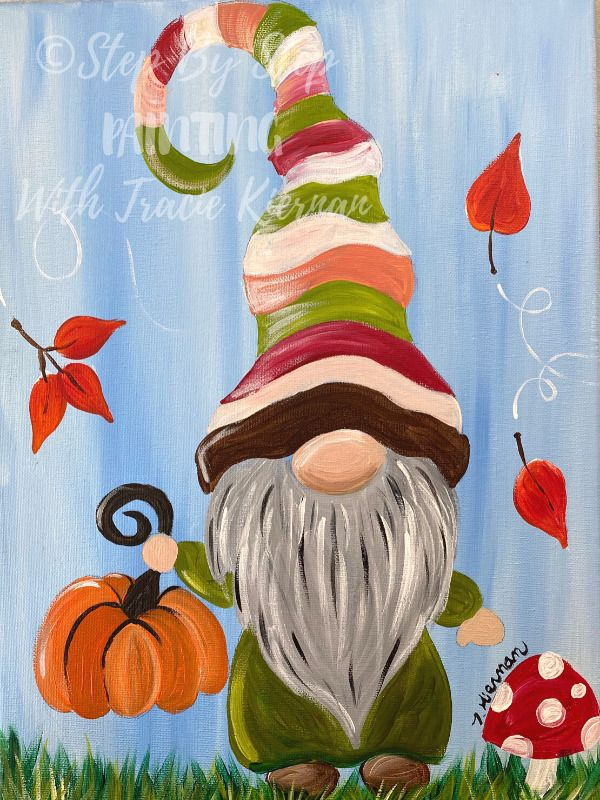 How To Paint A Fall Gnome - Step By Step Painting With Tracie Kiernan