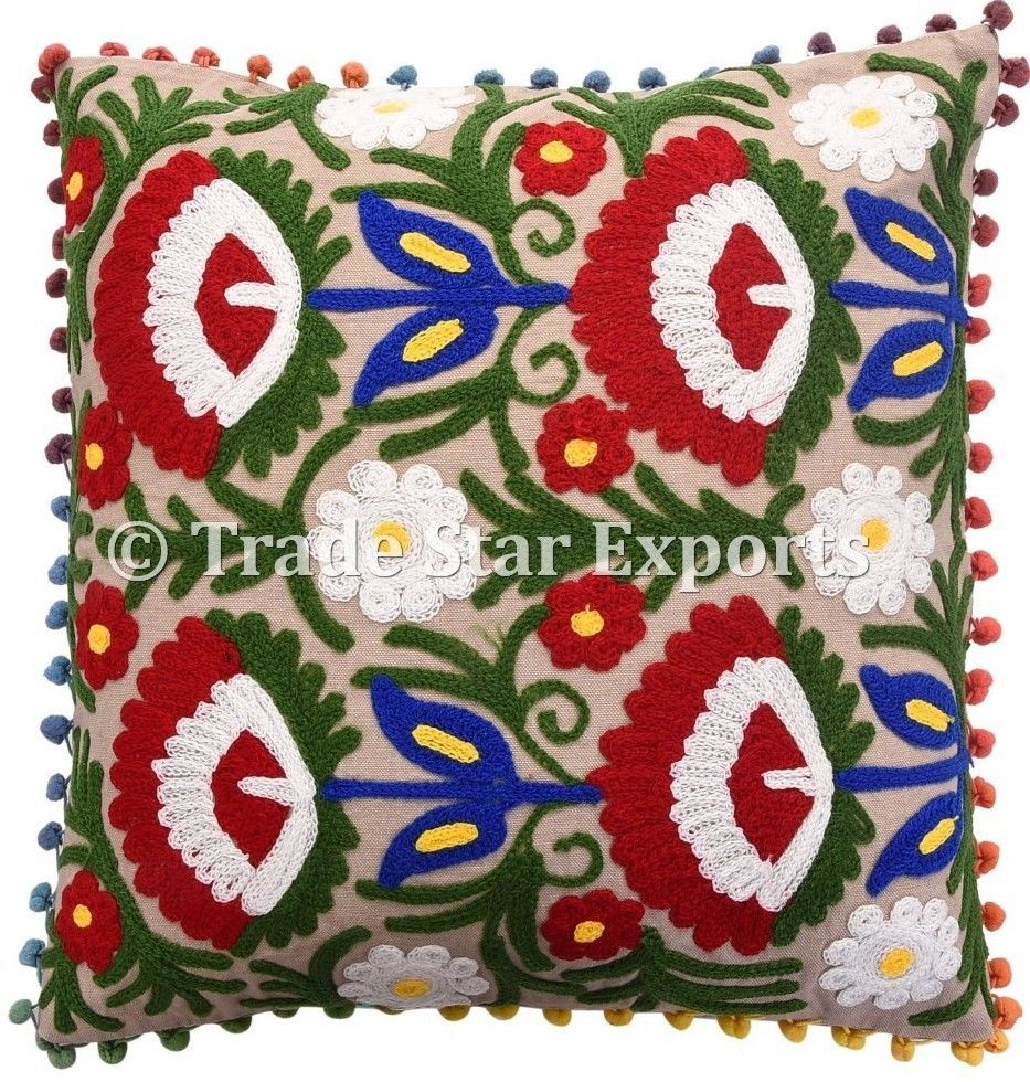 Set of uzbek suzani pillow cases x