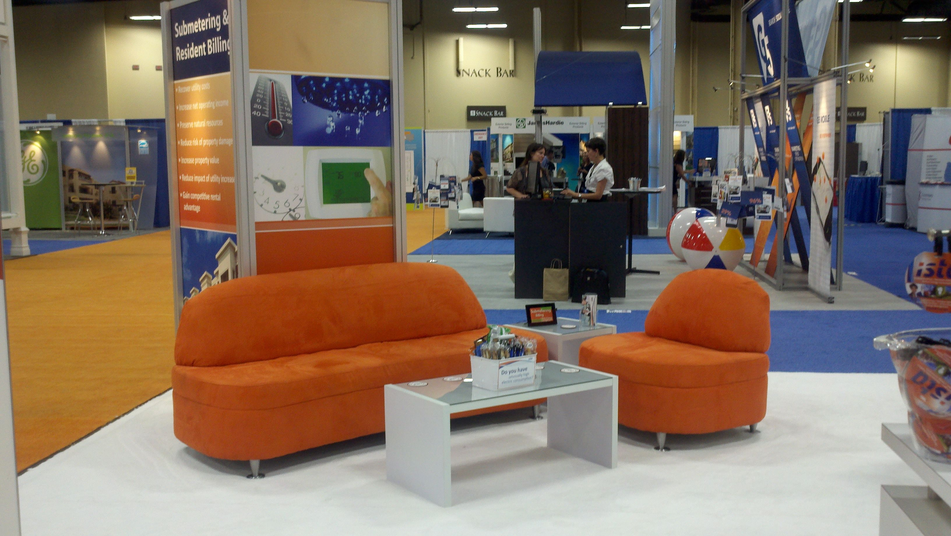 Attractive Trade Show Booth Furniture Featuring Our Tangerine Collection