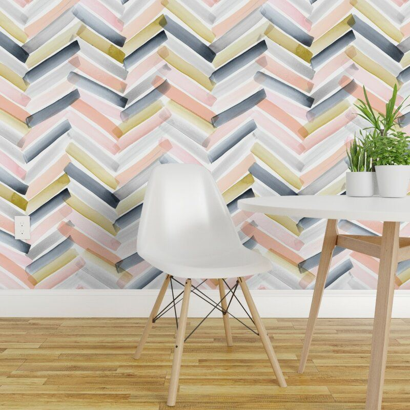 Bungalow Rose Osburn Removable Peel And Stick Wallpaper Roll Wayfair Removable Wallpaper Chevron Wallpaper Wallpaper Roll