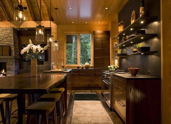 Country/Rustic (Country) Kitchen by Traci Kearns-love the pendant
