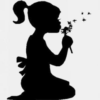 Blowing Bubbles Silhouette | Little girl silhouette ...