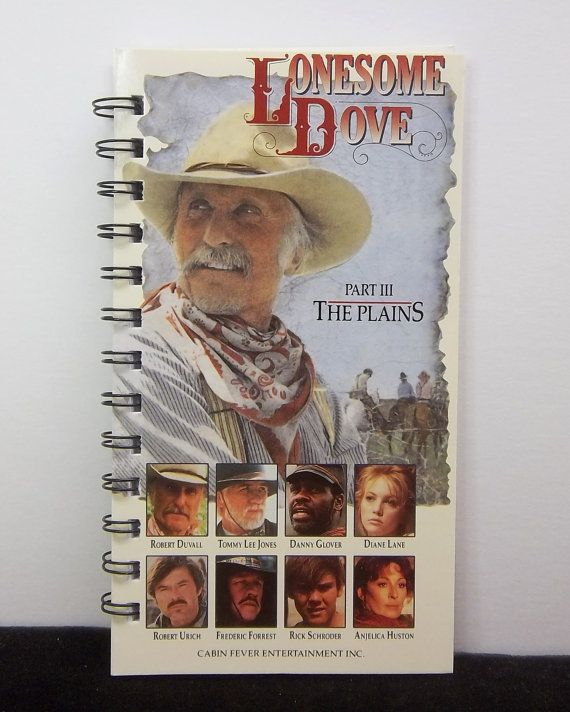 Recycled Notebook From Lonesome Dove VHS Box by AWRecycledJournals