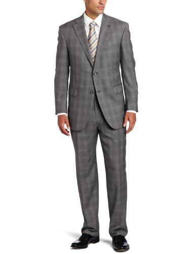 Austin Reed Men S Signature Two Piece Suit With Flat Front Pant Gray 44 Regular Impulse Clothes