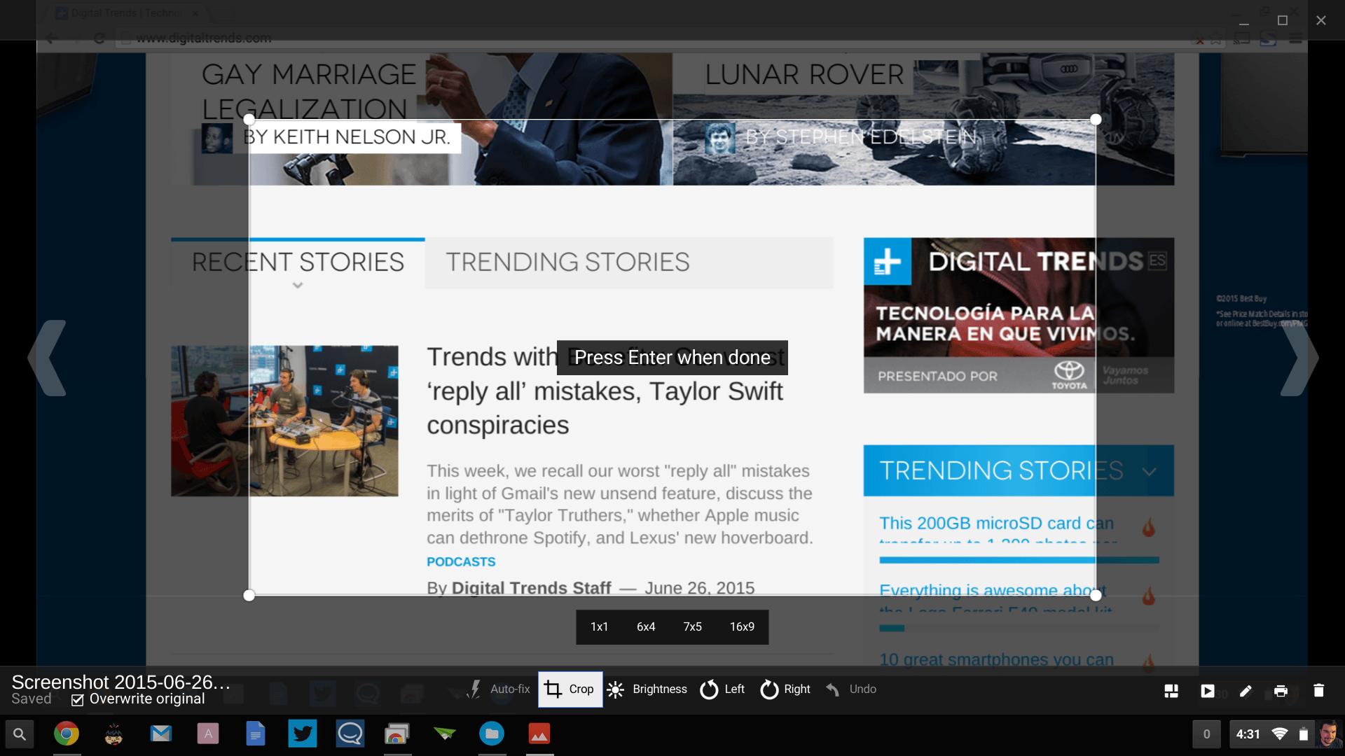 How To Take A Screenshot On A Chromebook Digital Trends Digital Trends Chromebook Digital