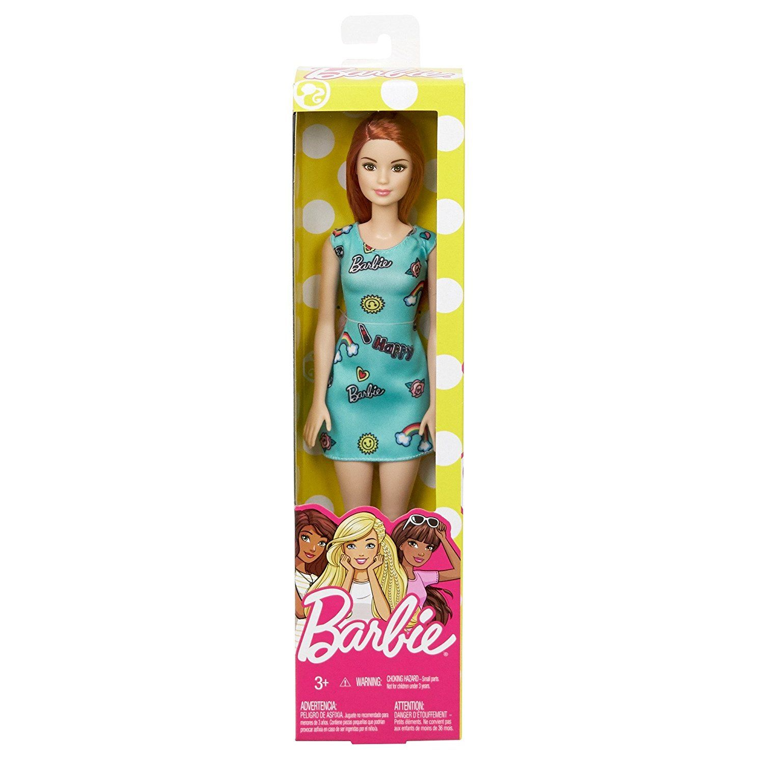 barbie redhead with blue dress fjf with trendy vintage mod