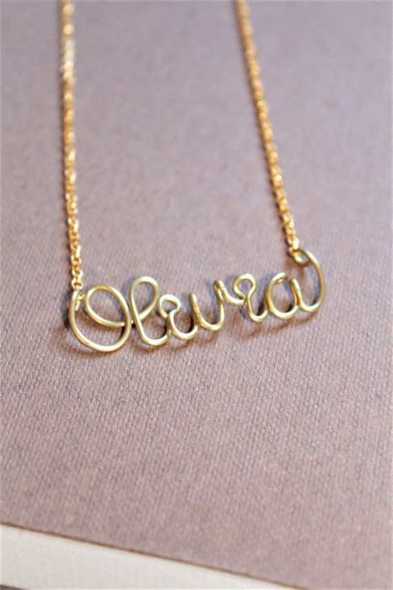 Gold name necklace custom name necklace personalized name necklace gold name necklace custom name necklace personalized name necklace bridesmaid necklace personalized name jewelry write your name dide aloadofball Image collections