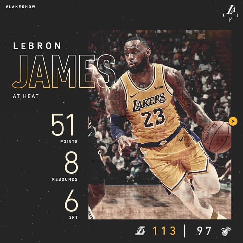 Los Angeles Lakers On Instagram The Purple And Gold Wins This One Lebron Was An Enormous Part Of Tonight S Win Dishing Out 51 Pts Lebron James Lebron Lakers