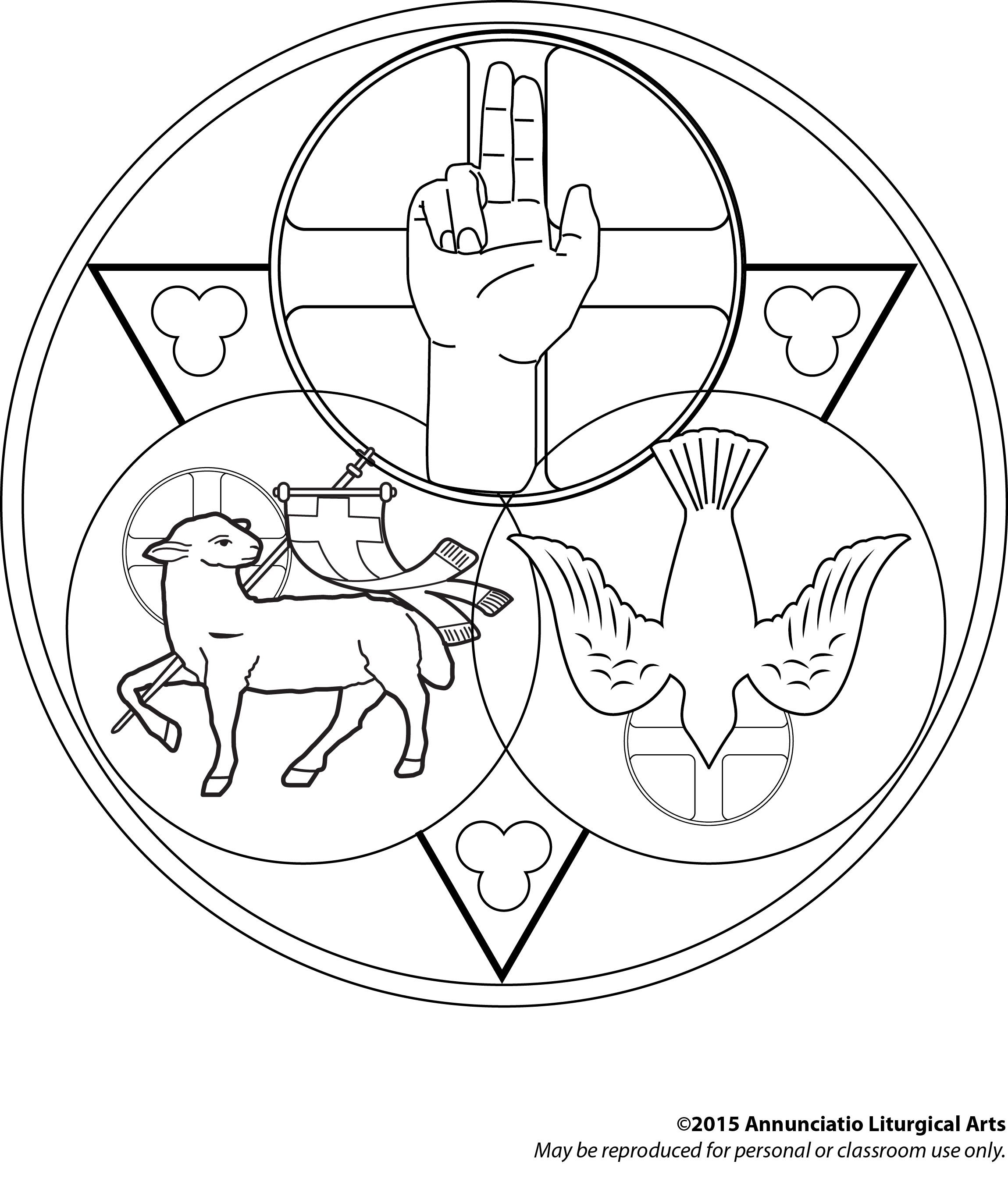 Holy Trinity coloring page. Find more art at https://www